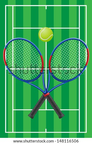 sport tennis set illustration
