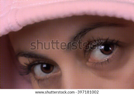 Sport woman eyes- halftone