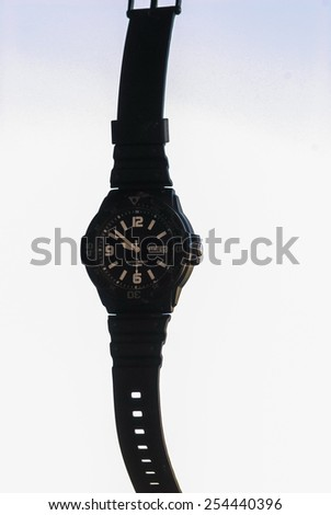 Sport wristwatch for men - stock photo