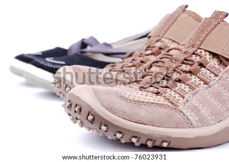 sporting shoe on a white background - stock photo