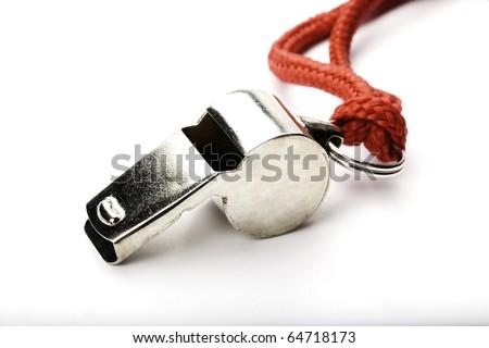 Sports Coach Whistle - stock photo