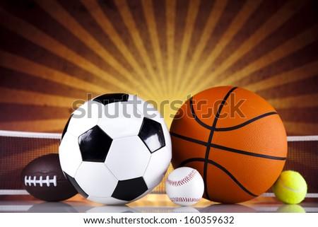Sports Equipment and sunshine - stock photo