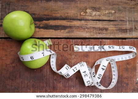 sports, fitness, concept of weight loss, diet, nutrition - stock photo