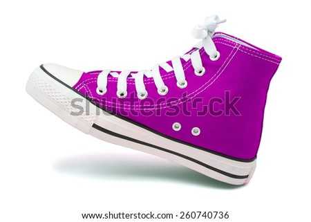 sports footwear on white background - stock photo