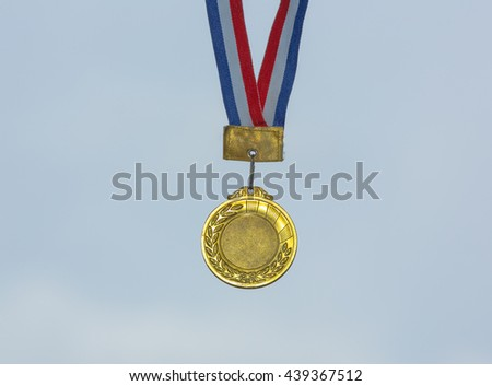 sports gold medal - stock photo