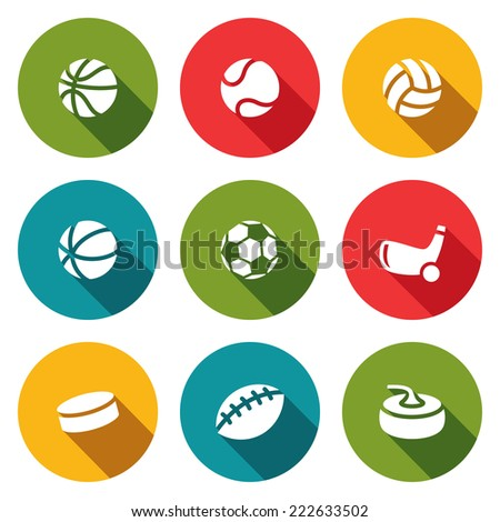 Sports Icon collection - stock photo