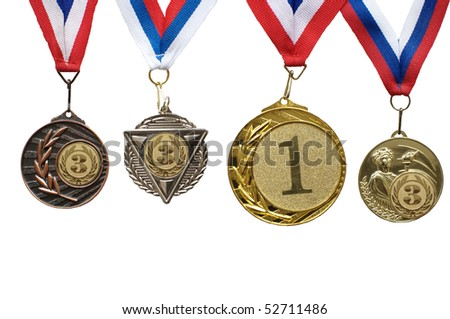 Sports medals for the first and third places