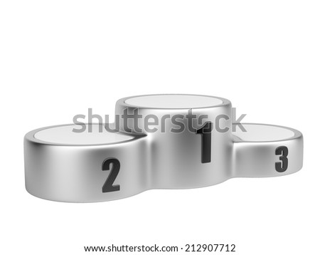 Sports pedestal. business winners podium - 3d image isolated on a white - stock photo