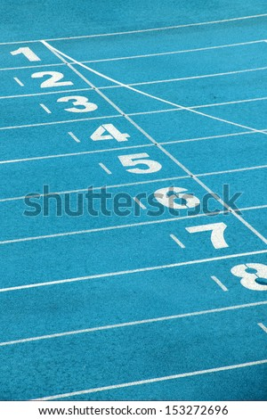 Sports runway - stock photo