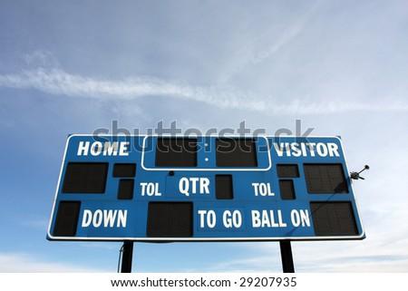 Sports scoreboard - stock photo