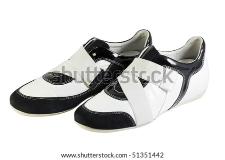 sports shoes isolated on white background - stock photo