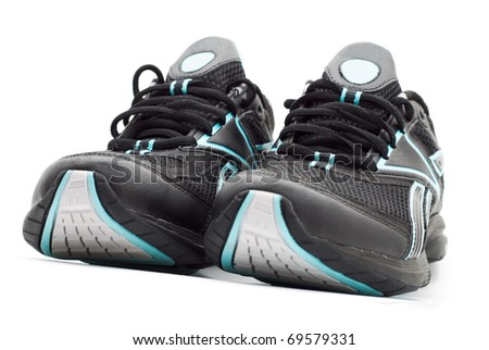 sports shoes on a white background - stock photo