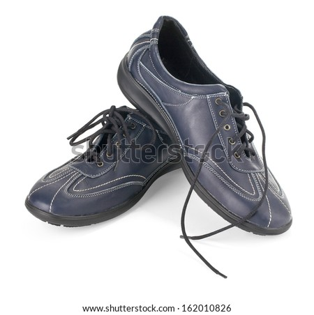 Sports shoes on white background with clipping path - stock photo