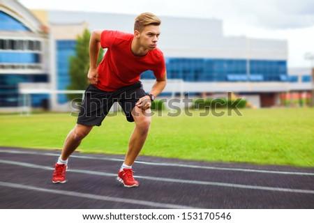 sports,start, beginning, path, concept, fighting, strength, success, one, leader, win, winner, sportman - stock photo