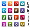 Sports Sticker Icons isolated over white background - sticker series - stock photo