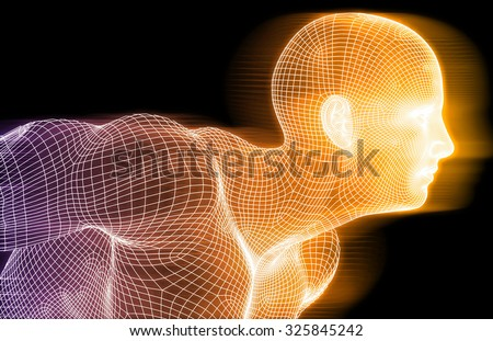 Sports Technology Abstract Concept Background as Art - stock photo
