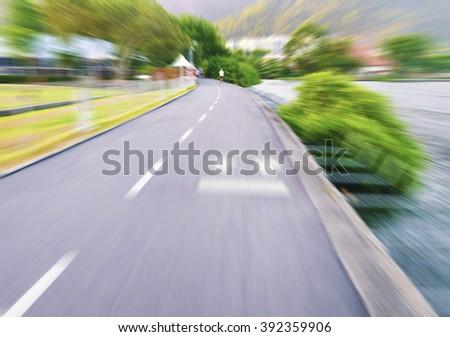 Sports track - Blur - stock photo