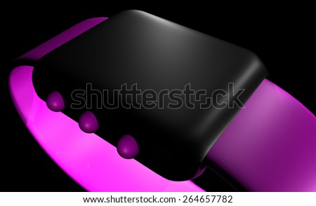 Sports Watch Touch - stock photo