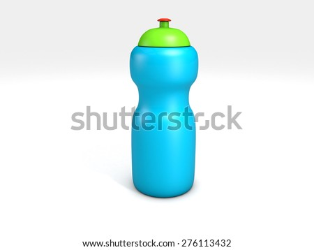 sports water bottle isolated on white