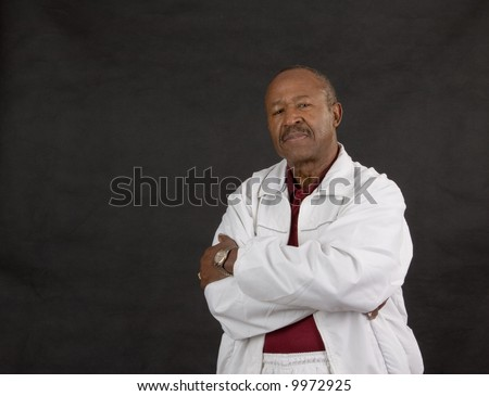 sporty african american man of retirement age - stock photo