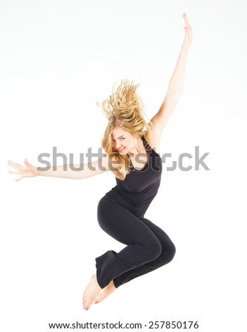 Sporty Elegance Art in Motion  - stock photo