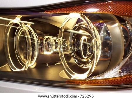 sporty headlight - stock photo