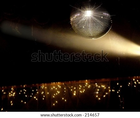 Spot Light  on Mirror Ball at Party