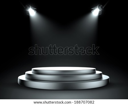 Spot light stage - stock photo