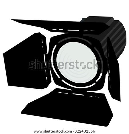 Spotlight, black spotlights, spotlights icon, stage lights - stock photo