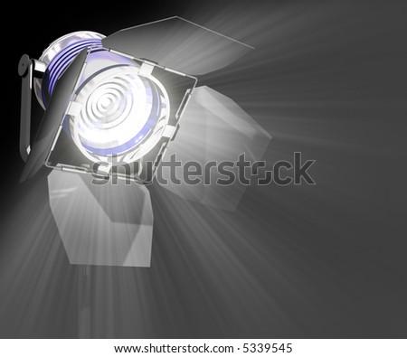 Spotlight Close-Up - stock photo