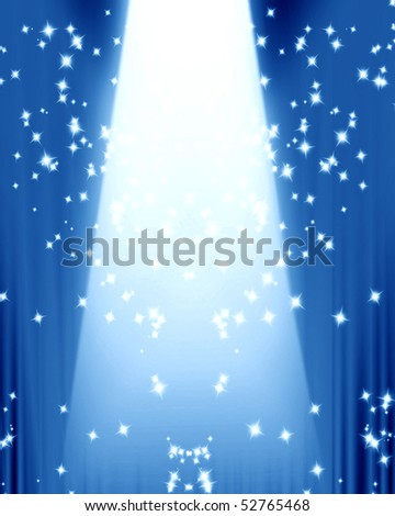spotlight on stage with some sparkles in it - stock photo
