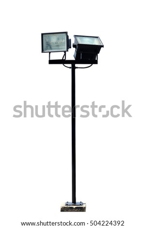 Spotlight pole isolated with clipping path.