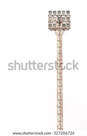 Spotlight, Stadium lights isolated on white background - stock photo