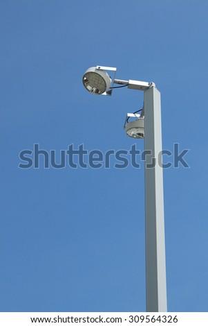 Spotlight tower - stock photo
