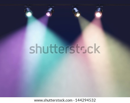 Spotlights - stock photo
