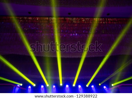 spotlights on a theatre stage. stage lights