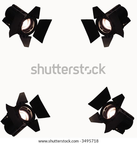 spots on white background - stock photo
