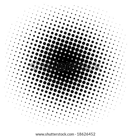 Spotted halftone background - stock photo