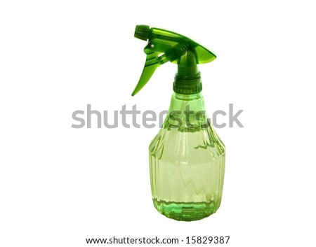 spray bottle - with vinegar - green conscious lifestyle - clipping path included