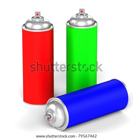Spray can isolated on a white background.