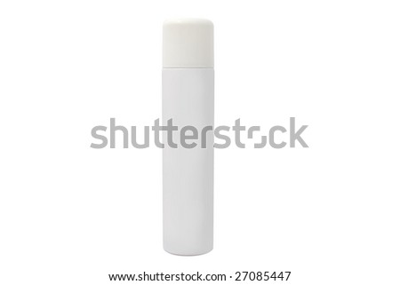 Spray can isolated on white background. It has a clipping path. - stock photo