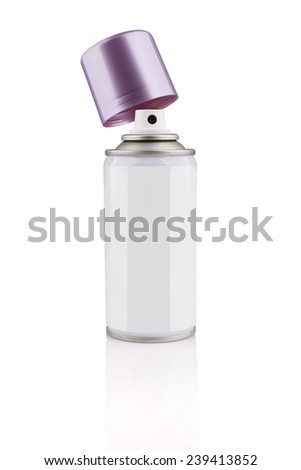 Spray Cosmetic Perfume, Deodorant, Freshener, makeup fixing spray metal bottle - stock photo