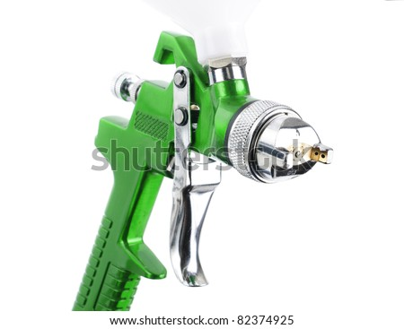 Spray gun isolated over white background - stock photo