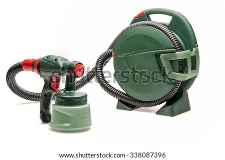 spray gun set - stock photo