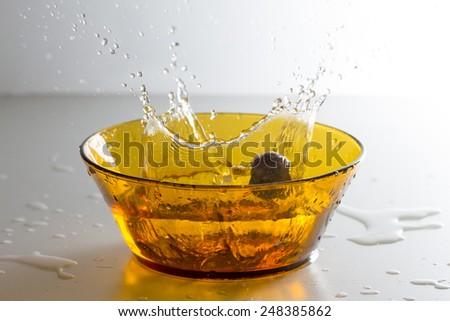spray on the white background - stock photo