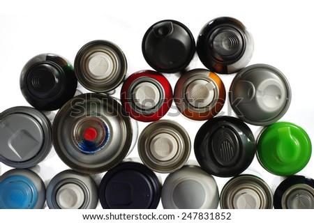 spray paint can 3 - stock photo