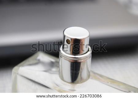 spray parfume - stock photo
