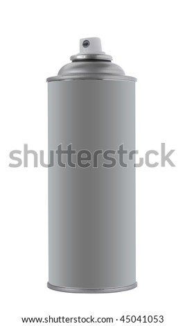 Spray tin on white background - stock photo