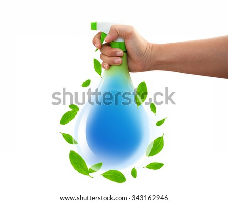 Sprayer In The Hand, Concept - stock photo