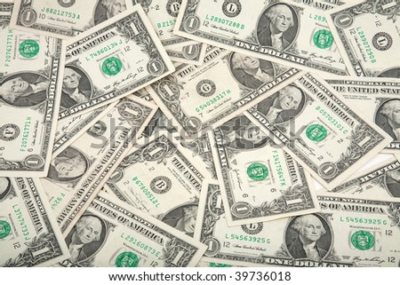 Spread of money as background, useful as background - stock photo